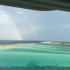 Double rainbow at the private island
