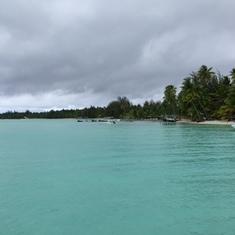 Bora Bora, French Polynesia - Our own private beach in Bora Bora