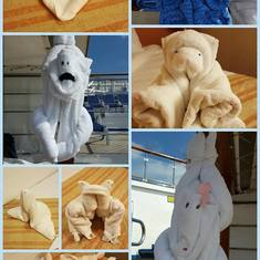 Towel Animals - a new animal every day!