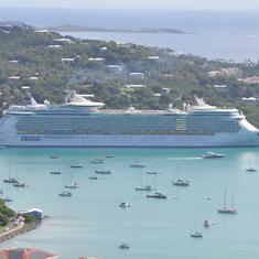 Ship in port at St Thomas