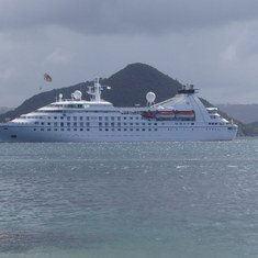 Star Pride anchored at Pigeon Island, St. Lucia
