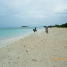 Horseback on the beach in Antigua!!!