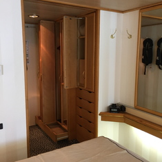 Closet space and drawers