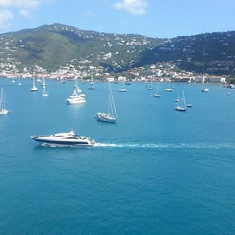 St Thomas port side views