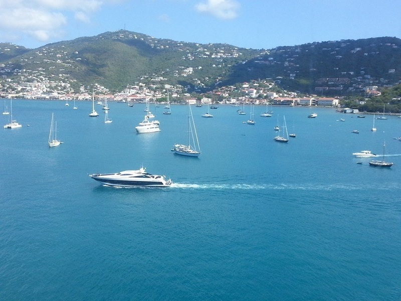 St Thomas port side views - Carnival Valor