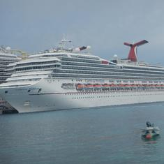 Carnival Freedom docked in Cozumel