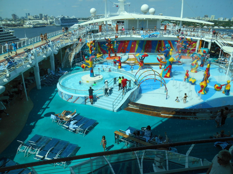 About half of the pool area - Liberty of the Seas