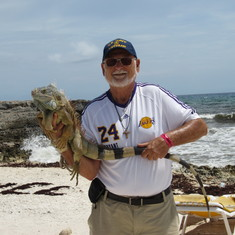 On the beach in Cozumel.