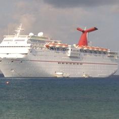 Ship View. Rusty exterior.