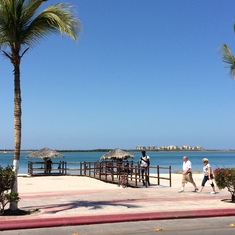 View of the bay in La Paz