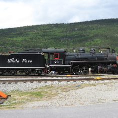 Skagway, Alaska - Historical locomotive (and tender) at Skagway.