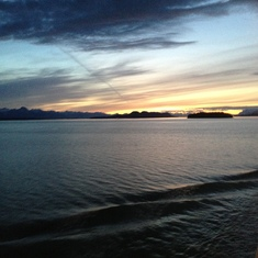 Cruise Inside Passage, Alaska - 1 am sunset.