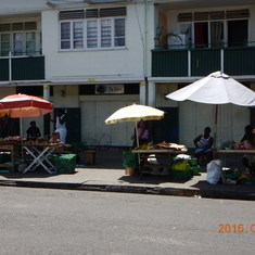 Produce stands in  St. Lucia.