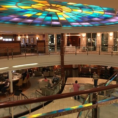 atrium area of the ship
