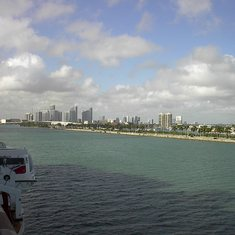 Miami, Florida - Miami Skyline as seen from Balcony