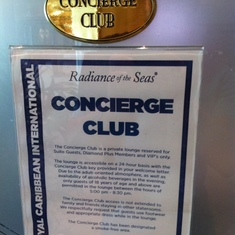 Radiance of the Seas Concierge Club