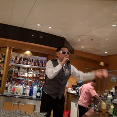 Grand Princess best bartender, Ramil