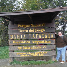 Ushuaia, Tierra Del Fuego, Argentina - End of Route 3 which starts in Alaska - the longest road.