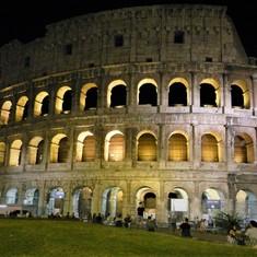 Rome's Coliseum at night
