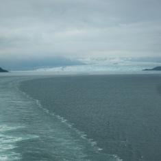 Hubbard Glacier, Alaska - Sailing away from Hubbard Glacier