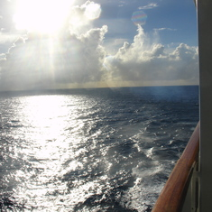 Enjoying the balcony at sea!
