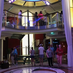 Small atrium in the front of the ship