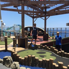 Mini Golf (below); Ropes Course (above)