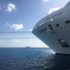 Divina Docked in Cozumel