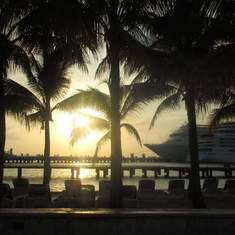 Beach near Pier Maya, Cozumel