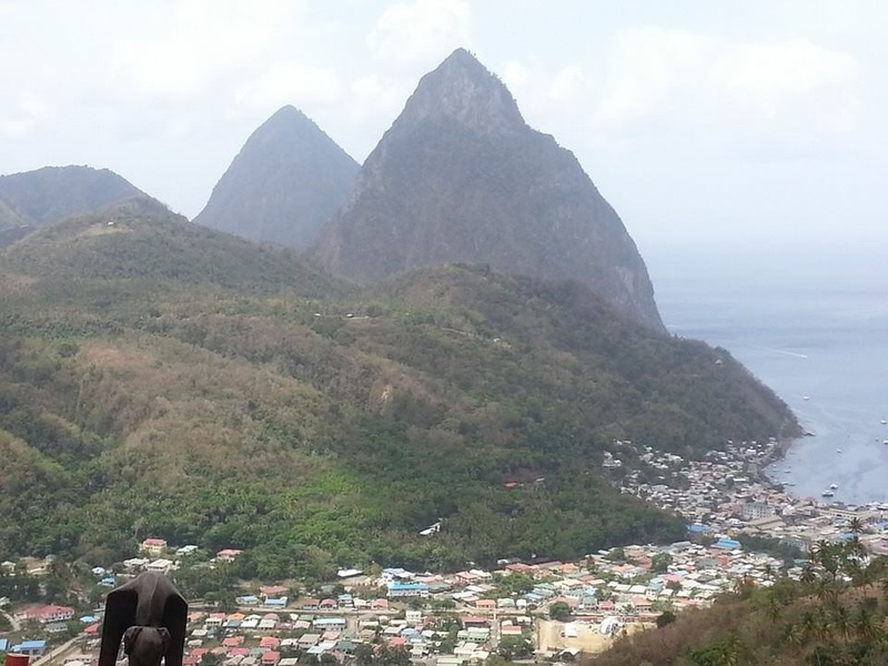 Pitons in St Lucia - Carnival Valor