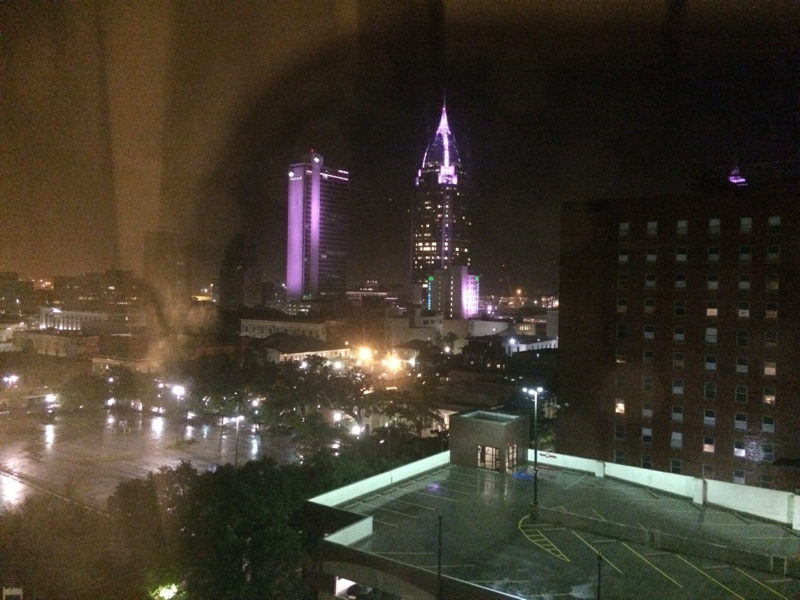 Mobile, Alabama - stormy night