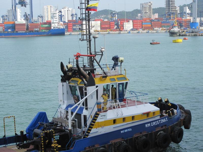 Cartagena, Colombia - Our escort into Cartagena