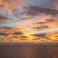 Cabo San Lucas, Mexico - Sunrise at Sea