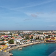 Bonaire, coming into port. The most beautiful island!