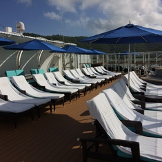 The Haven sun deck area