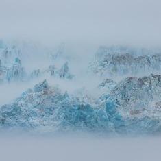 Hubbard Glacier in the mist