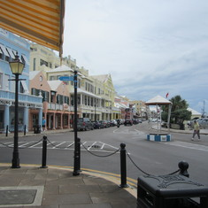 Hamilton Bermuda and the bird cage.