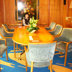 Dining Room in Pinnacle Suite. Cabin 7001.   Feb 2012.  Before dry dock.