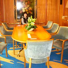 Dining Room in Pinnacle Suite. Cabin 7001.   Feb 2012.  Before dry dock.