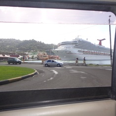 Castries, St. Lucia - Our ship in port of St.Lucia