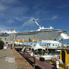 Anthem of the Seas docked in Bermuda