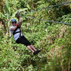 Zip line activities with Jo