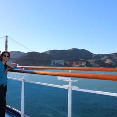 going under the Golden Gate
