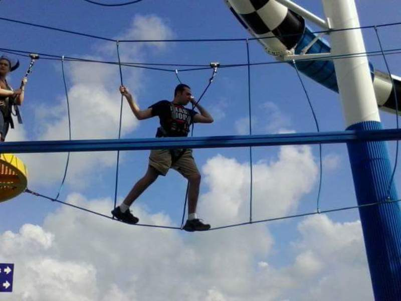 Sunshine ropes course - Carnival Sunshine