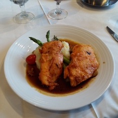 Chicken Marsalla in the Tides Dining Room