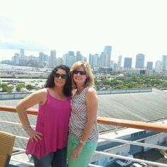 On board ship in Miami