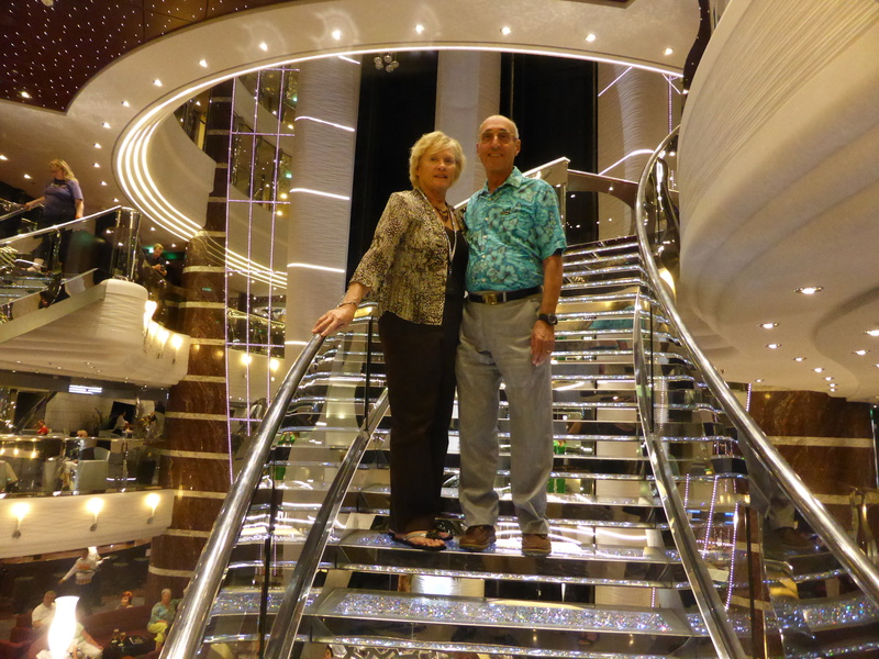 Glitzy Staircase - Great Photo Op - MSC Divina