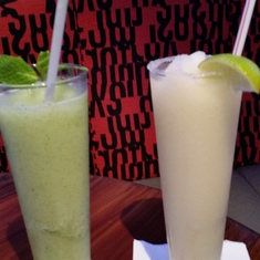 First drinks of the cruise! Frozen Mojito and Margaritta