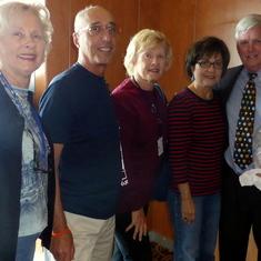 Celebrity SpeakerJim Kennedy, his Wife & me, husband and Linda