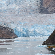 Cruise Tracy Arm Fjord, Alaska - Sayer Glacier, Closet the Captain could get all 2014